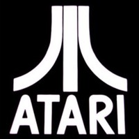 White Atari logo on black
